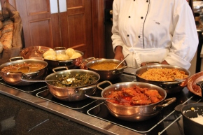 Lunch buffet at the Federal Palace Hotel, Lagos, Nigeria